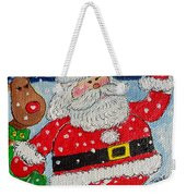 Santa And Rudolph Weekender Tote Bag