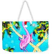 Santa Baby Flamingo Weekender Tote Bag