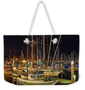 Santa Barbata Harbor Color Weekender Tote Bag