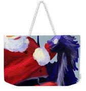 Santa Blue Weekender Tote Bag