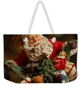 Santa Claus - Antique Ornament - 04 Weekender Tote Bag