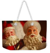Santa Claus - Antique Ornament - 12 Weekender Tote Bag by Jill Reger