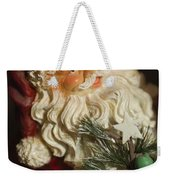 Santa Claus - Antique Ornament - 18 Weekender Tote Bag by Jill Reger