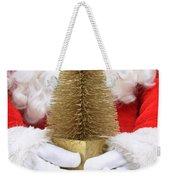 Santa Claus Holding Christmas Tree Weekender Tote Bag