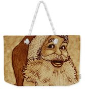 Santa Claus Joyful Face Weekender Tote Bag by Georgeta  Blanaru