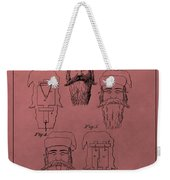 Santa Claus Mask Patent Weekender Tote Bag by Dan Sproul