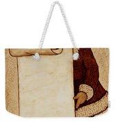 Santa Claus Wishlist Original Coffee Painting Weekender Tote Bag