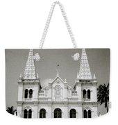 Santa Cruz Basilica In Cochin Weekender Tote Bag