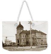 Santa Cruz High School On Walnut Street. Circa 1910 Photo By Besaw Weekender Tote Bag
