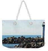 Santa Cruz Lighthouse Wide Weekender Tote Bag