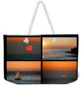 Santa Cruz Sunset  Weekender Tote Bag by AJ  Schibig
