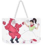 Santa Dances Weekender Tote Bag