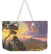 Santa Fe Baldy - Detail Weekender Tote Bag by Art West