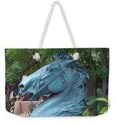 Santa Fe Big Blue Horse Weekender Tote Bag