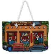 Santa Fe Restaurant Weekender Tote Bag by Victoria De Almeida