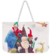 Santa Gets Ready Weekender Tote Bag