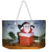Santa Ho Ho Ho Photo Art Weekender Tote Bag