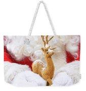 Santa Holding Reindeer Figure Weekender Tote Bag