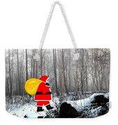 Santa In Christmas Woodlands Weekender Tote Bag