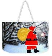 Santa In Winter Wonderland Weekender Tote Bag