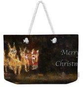 Santa Merry Christmas Photo Art Weekender Tote Bag