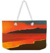 Santa Monica Beach And Mountains Weekender Tote Bag