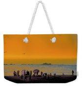 Santa Monica Beach Sunset Weekender Tote Bag