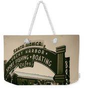 Santa Monica Pier Sign Weekender Tote Bag