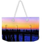 Santa Monica Pier Sunset Silhouettes Weekender Tote Bag