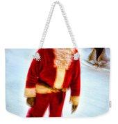 Santa On Ice Weekender Tote Bag