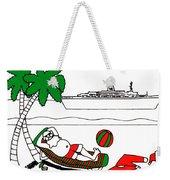 Santa On Vacation Weekender Tote Bag