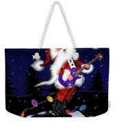 Santa Plays Guitar In A Snowstorm 2 Weekender Tote Bag