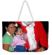 Santa Poses With Fans At Annual Christmas Parade Eloy Arizona 2004 Weekender Tote Bag