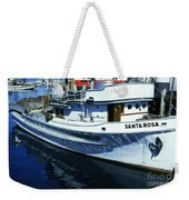 Santa Rosa Purse-seiner Fishing Boat Monterey Bay Circa 1950 Weekender Tote Bag