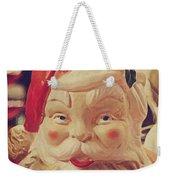 Santa Whispers Vintage Weekender Tote Bag by Toni Hopper