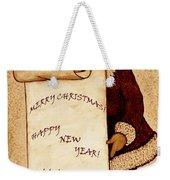 Santa Wishes Digital Art Weekender Tote Bag