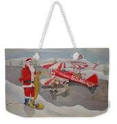 Santa's Airport Weekender Tote Bag
