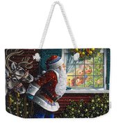 Santa's At The Window Weekender Tote Bag