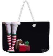 Santas Little Helper Weekender Tote Bag by Edward Fielding