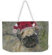 Santa's Little Pugster Weekender Tote Bag