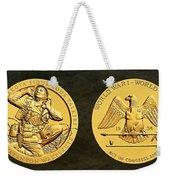 Santee Sioux Tribe Code Talkers Bronze Medal Art Weekender Tote Bag