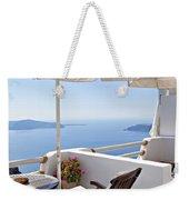 Santorini Balcony  Weekender Tote Bag