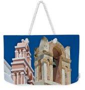 Santorini Bell Towers Weekender Tote Bag
