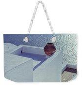 Santorini Greece  Weekender Tote Bag