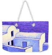Santorini Houses Weekender Tote Bag