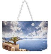 Santorini Island Weekender Tote Bag