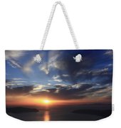 Santorini Sunset Cyclades Greece  Weekender Tote Bag