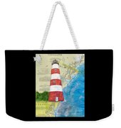 Sapelo Island Lighthouse Ga Nautical Chart Map Art Cathy Peek Weekender Tote Bag