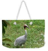 Sarus Crane Weekender Tote Bag