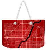Saskatoon Street Map - Saskatoon Canada Road Map Art On Color Weekender Tote Bag